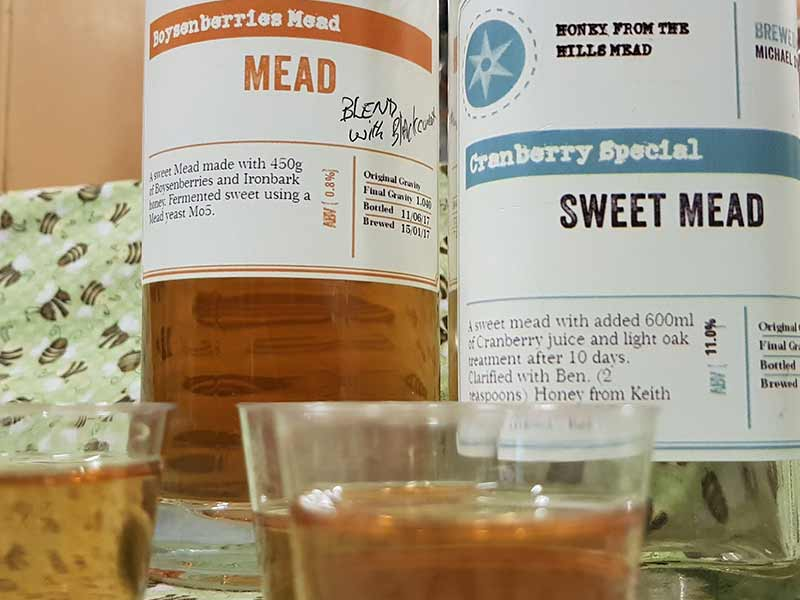 mead beginners group mead-samples-illawarra-beekeepers