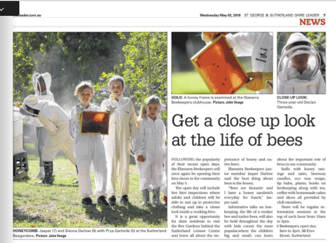 St-George-and-Sutherland-Shire-Leader-news-illawarra-beekeepers-open-day-2018